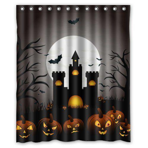 "Happy Halloween - Funny Pumpkin Form The Dark Castle Shower Curtain 60""x72"" Inches 100% Waterproof Polyester Fabric Bath Curtain,Shower Rings Included Happy Halloween Shower Curtain http://www.amazon.com/dp/B00NQ93D42/ref=cm_sw_r_pi_dp_VQikub0TKHF5S"