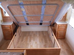 Lift Up Bed With Struts Under Bed Storage Bedrooms