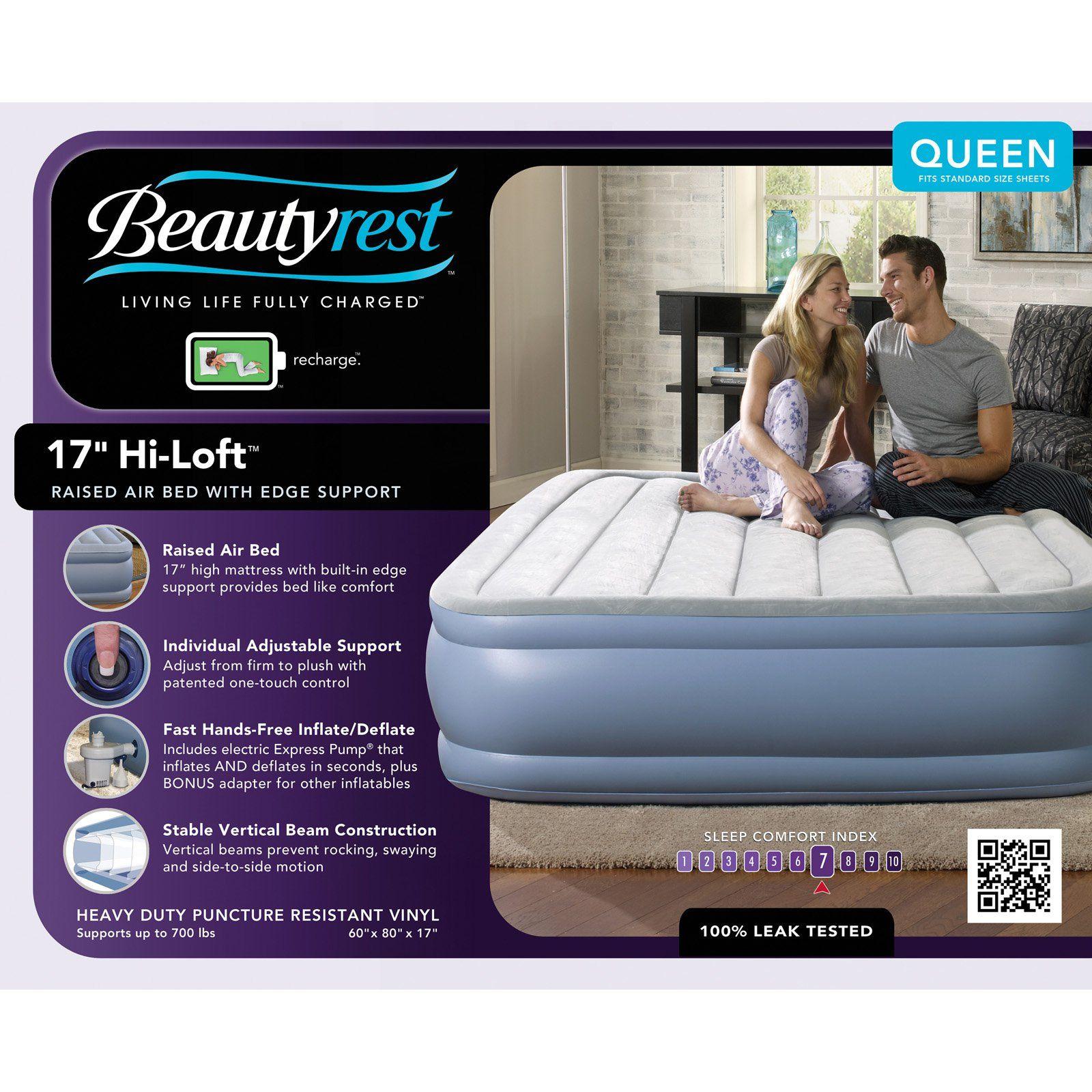 Beautyrest Hi Loft Express Raised Air Mattress Walmart Com Air Bed Mattress Simmons Beautyrest