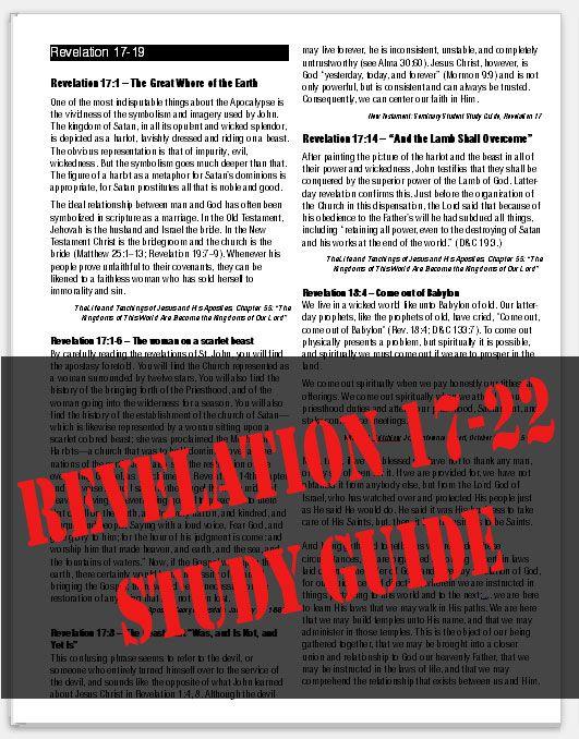 Revelation bible study for teens