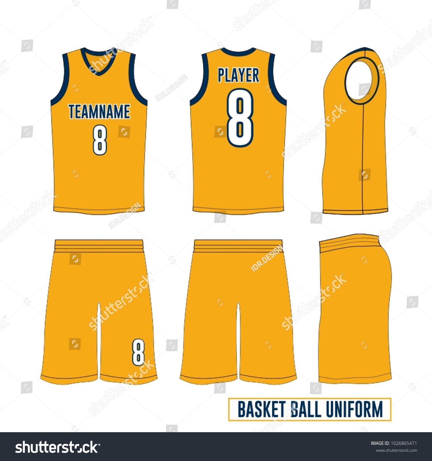 basketball uniform vector template basketball uniform pinterest