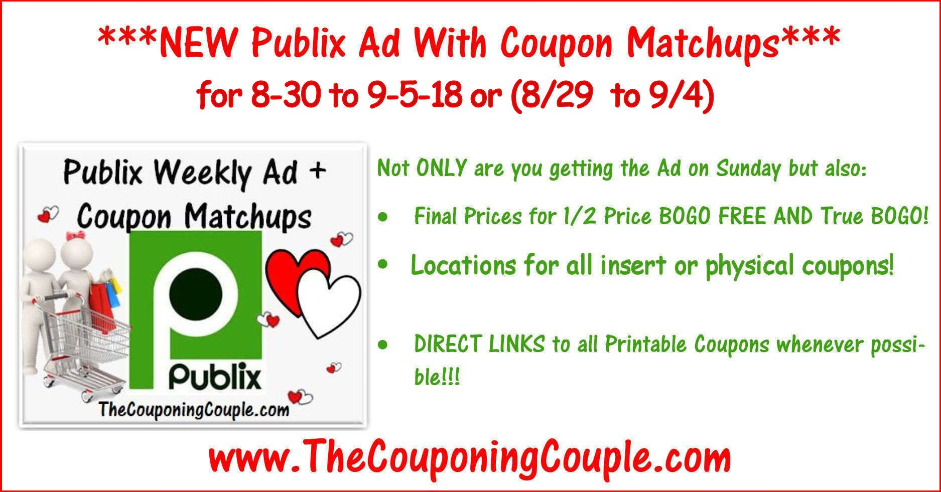 Publix Coupon Matchups for 8-30 to 9-5-18 or (8/29 to 9/4) | Pinterest