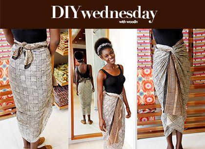 How To Tie An Iro Wrap Skirt Using Woodin Scarf Wrap