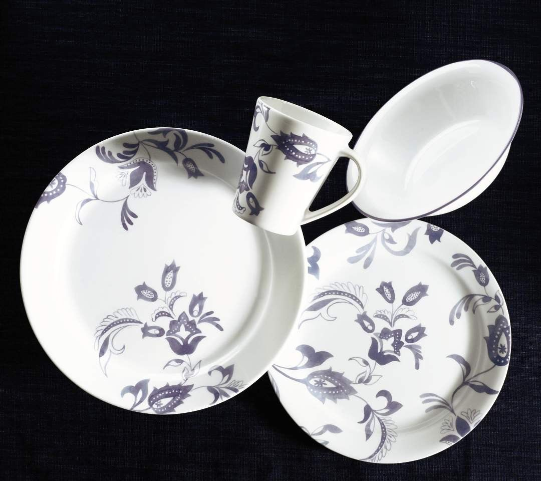 Amazon.com | Corelle Impressions Provencal 16-Piece Dinnerware Set Service for 4 & Amazon.com | Corelle Impressions Provencal 16-Piece Dinnerware Set ...