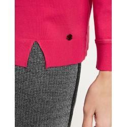 Photo of Pullover mit Glitzer-Biesen Pink Taifun