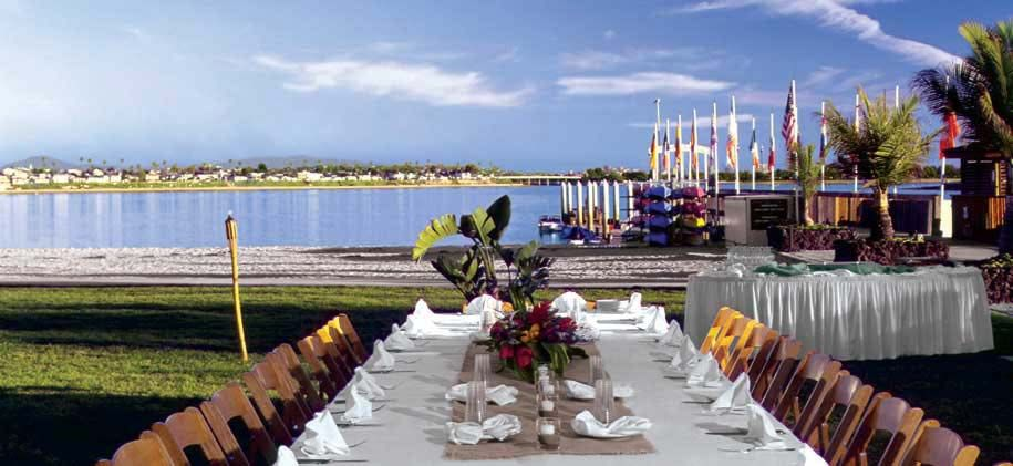 The Catamaran Resort In San Go Room For An Outdoor Wedding Reception On Mission Bay