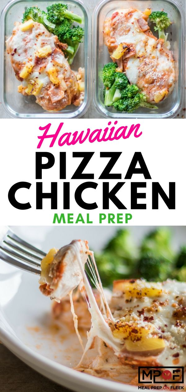 Hawaiian Pizza Chicken Meal Prep images