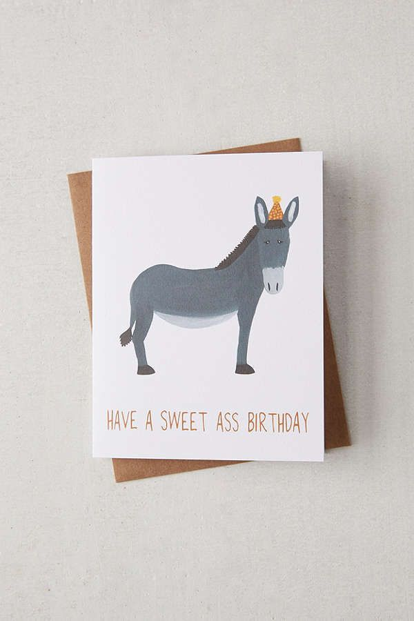 Fawn Paper Company Donkey Birthday Card Have A Sweet Ass Birthday