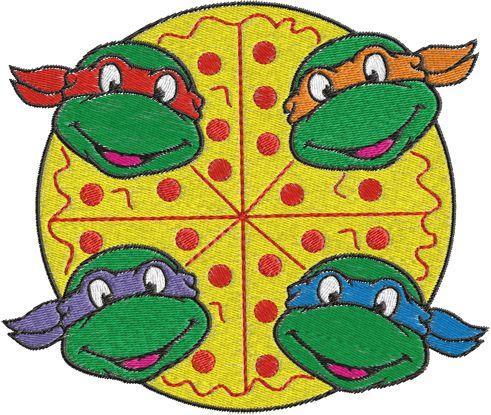 ninja turtles machine embroidery design 0259 ninja turtles rh pinterest com