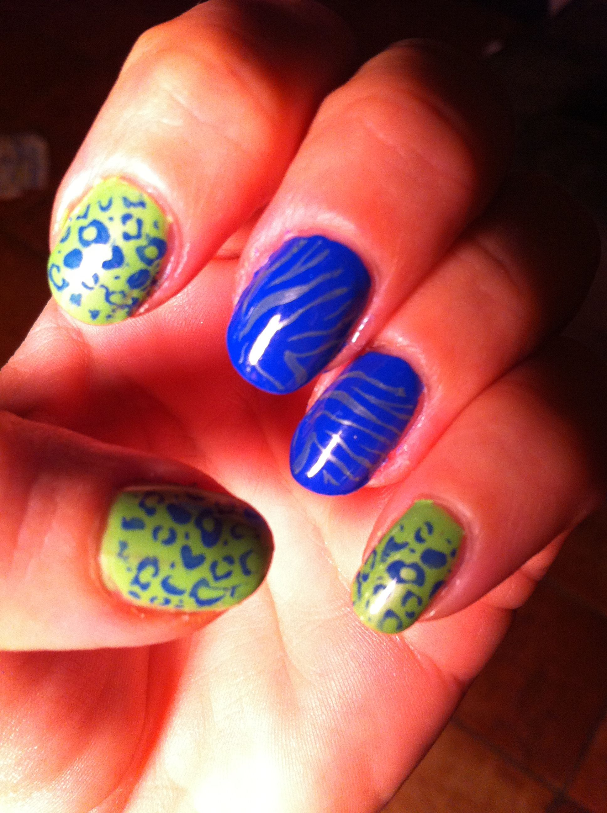 Old school Seattle Seahawks nail polish.. Super Bowl NFL | Nail Time ...