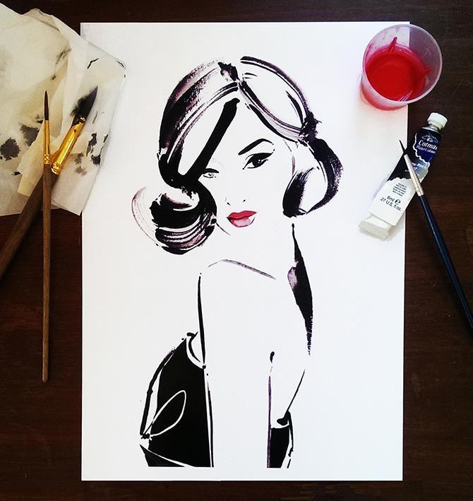 Gary Pepper Girl AKA Nicole Warne by fashion illustrator Kerrie Hess