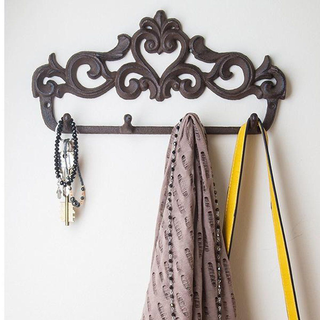 Decorative Cast Iron Wall Hook Rack Wall Hook Rack Iron Wall Wall Hooks