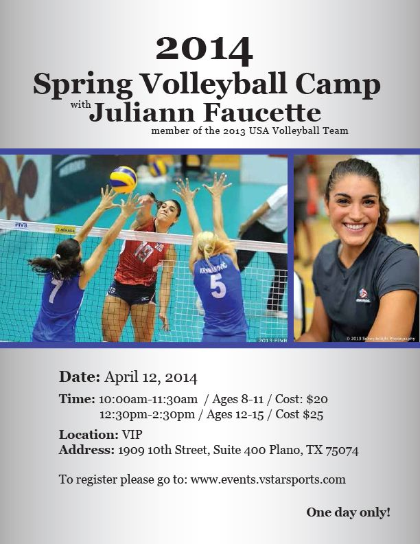 Volleyball Camp Flyer Juliann Camp 2014 Volleyball Camp Usa Volleyball Team Usa Volleyball