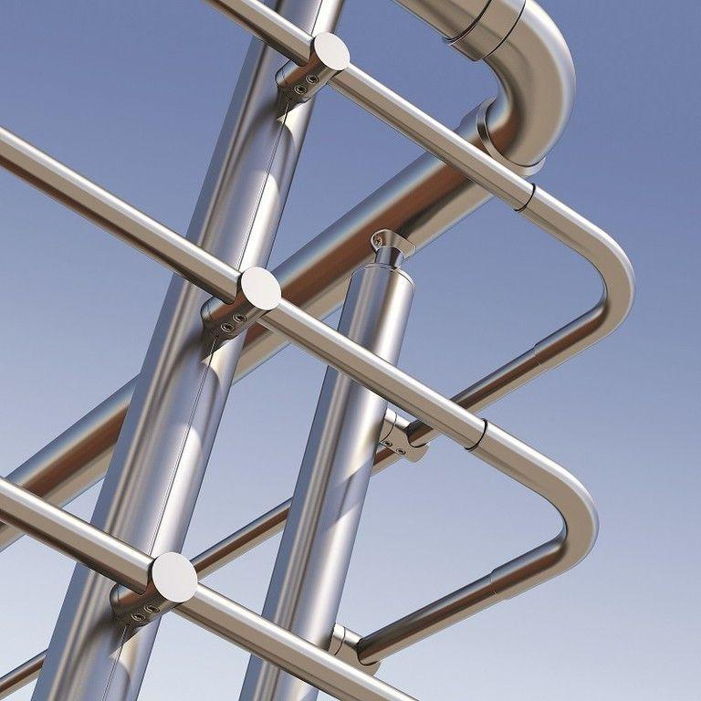 Detalle esquina barandilla aluminio Inox design Pinterest