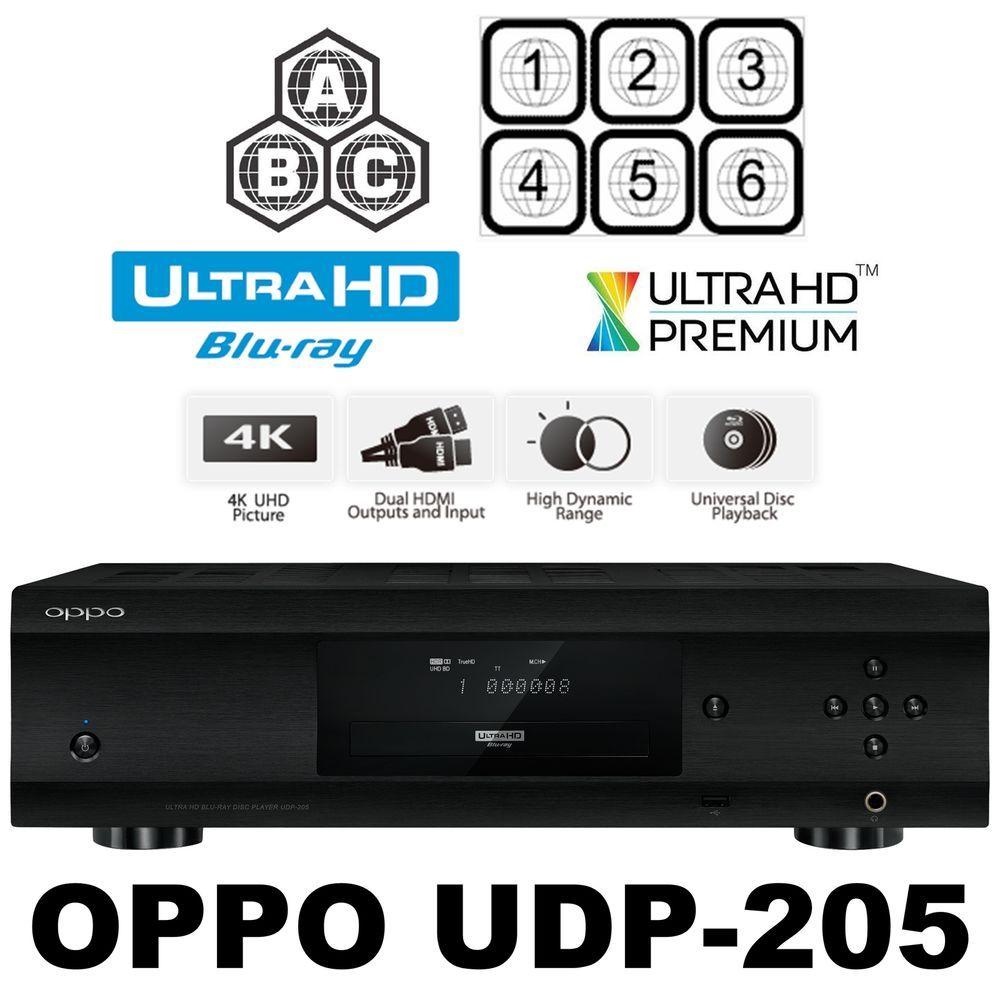 Oppo Digital Udp 205 Multi Code Region Free 4k Ultra Hd Blu Ray Dvd Player New Oppodigital Blu Ray Player Tv Videos Blu Ray Discs