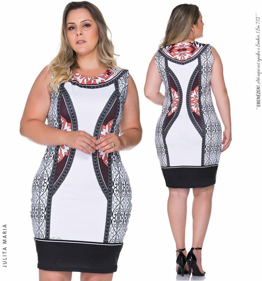 Moderno com estampa exclusiva Julita Maria este vestido tubinho vai te deixar pronta para qualquer evento facilmente e com o adicional de muito estilo Acesse br Tire suas...