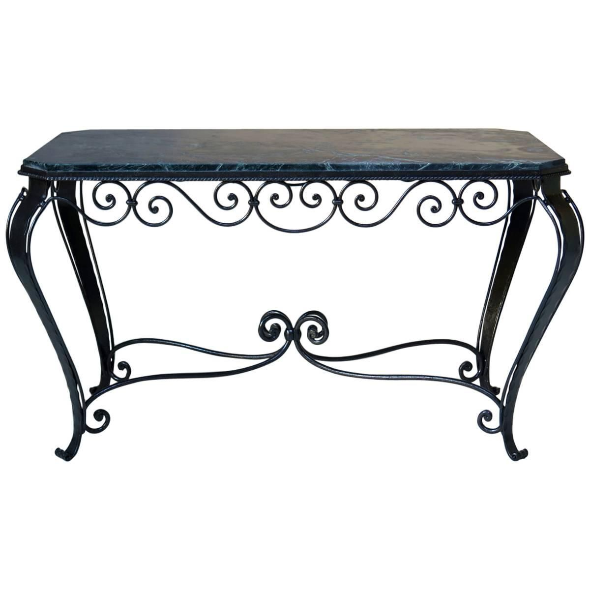 1stdibs Coffee Cocktail Table 1940s French Art Deco Wrought Iron Marble In 2020 Iron Coffee Table Wrought Iron Table