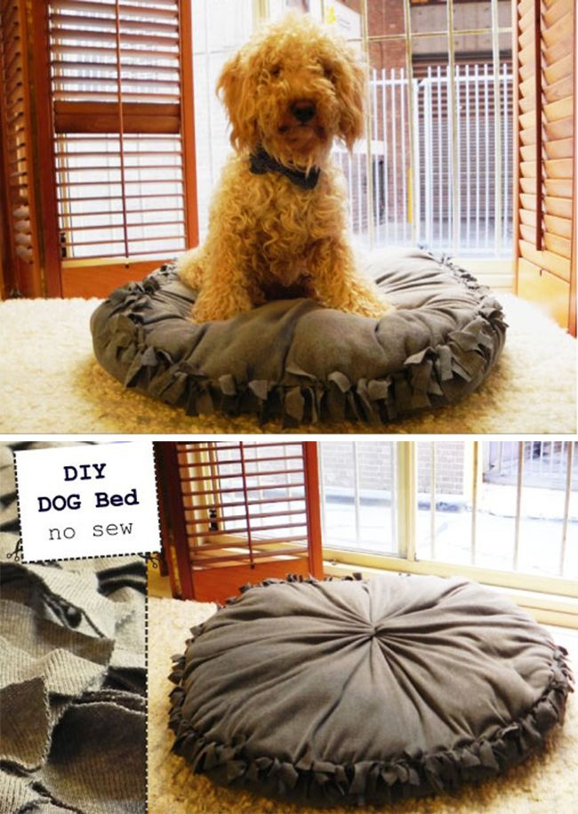 Nosew+Fleece+DIY+Pet+Bed+Design Great Sewing & Fabric