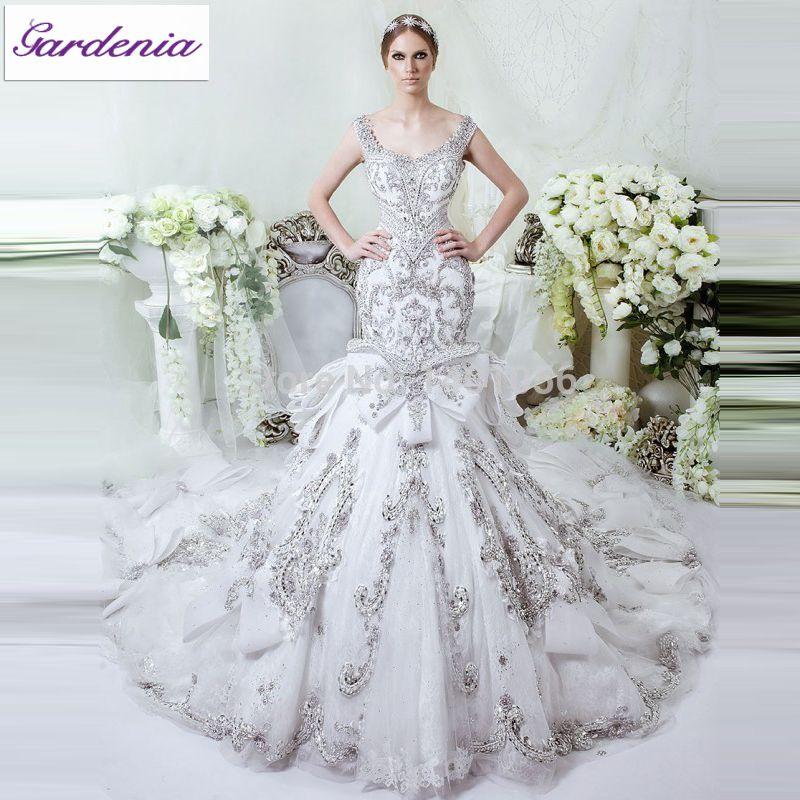Mermaid Wedding Dresses with Bling