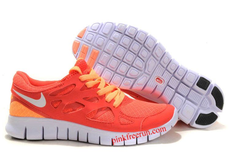 quality design 61530 c973f Bright Mango Action Red Sail Nike Free Run 2 Women s Running Shoes