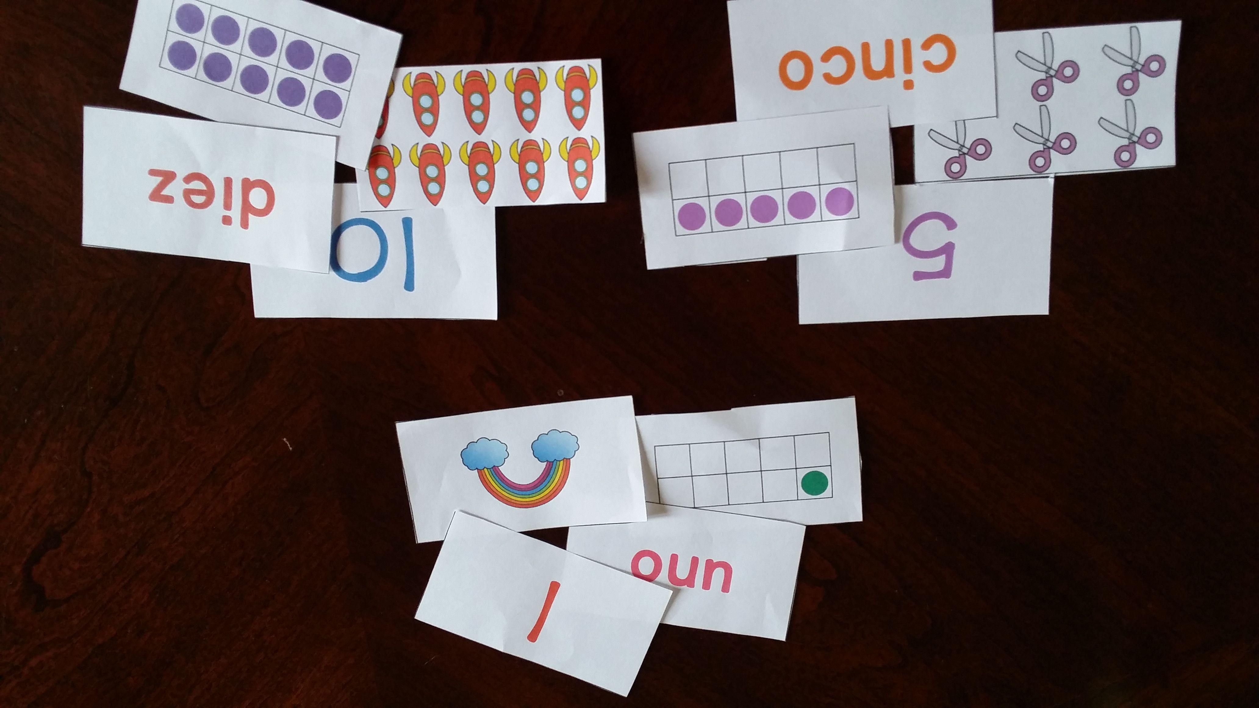 Numbers 120 Matching Memory Game; Números de memoria