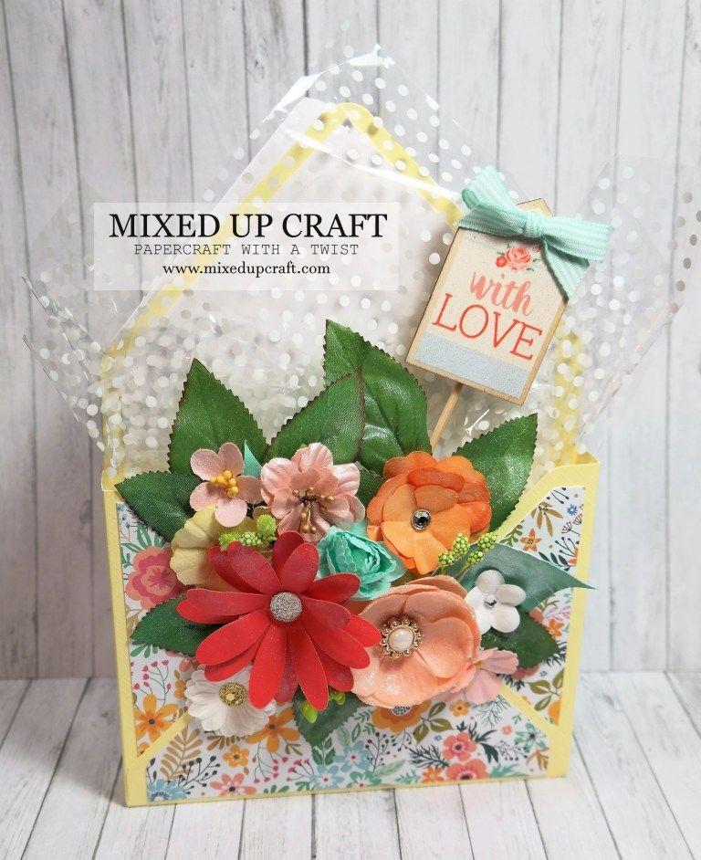 beautiful envelope box bouquet card  box cards tutorial