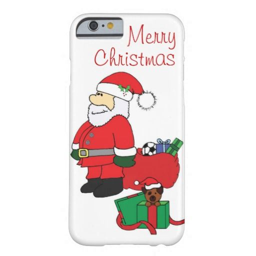 Santa with Gifts and Puppy iPhone 6 Phone Case