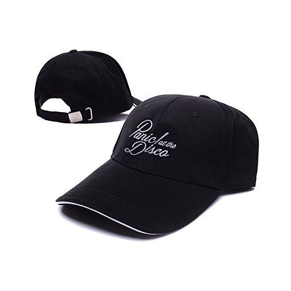 Panic At The Disco Band Logo Adjustable Baseball Caps Unisex Snapback... (22 PLN) ❤ liked on Polyvore featuring accessories, hats, embroidered ball caps, embroidered baseball caps, logo ball caps, logo hats and baseball cap hats