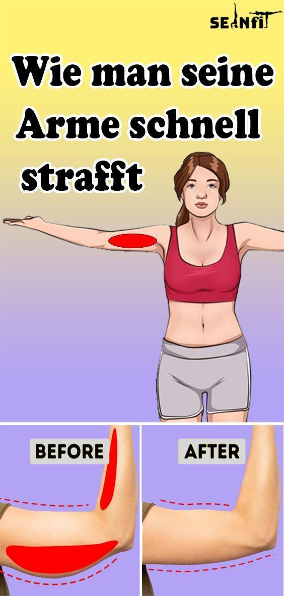 Wie man seine Arme schnell strafft Wie man seine Arme schnell strafft