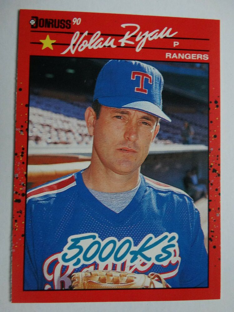 1990 donruss 665 nolan ryan 5000 ks texas rangers error