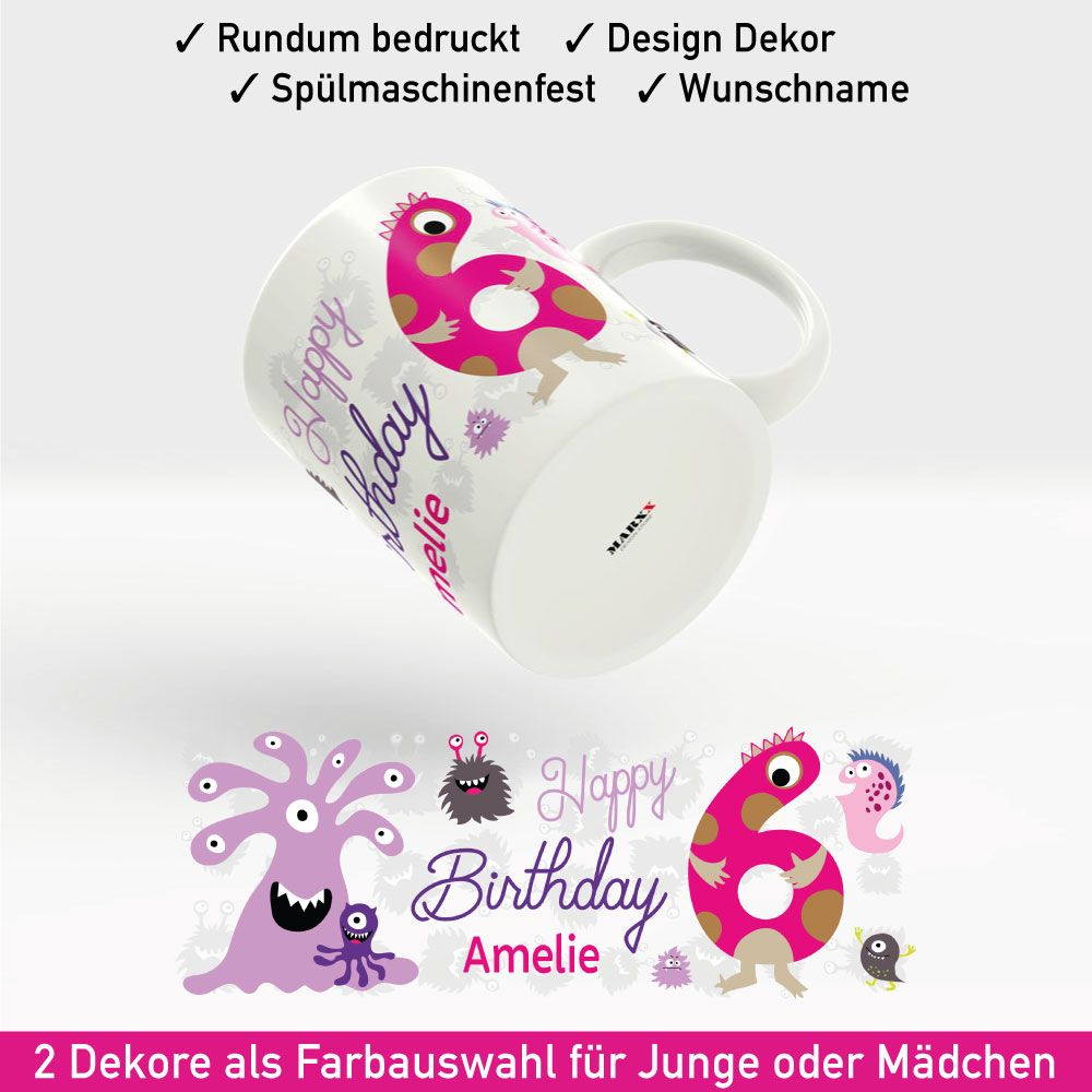 Tasse Geburtstag Motiv Madchen Geburtstag Tassen Bedrucken Und