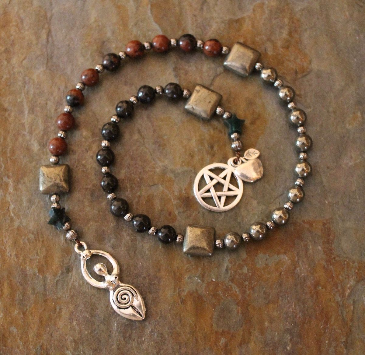Mabon Autumn Equinox, Pagan Prayer Beads, Witches Ladder