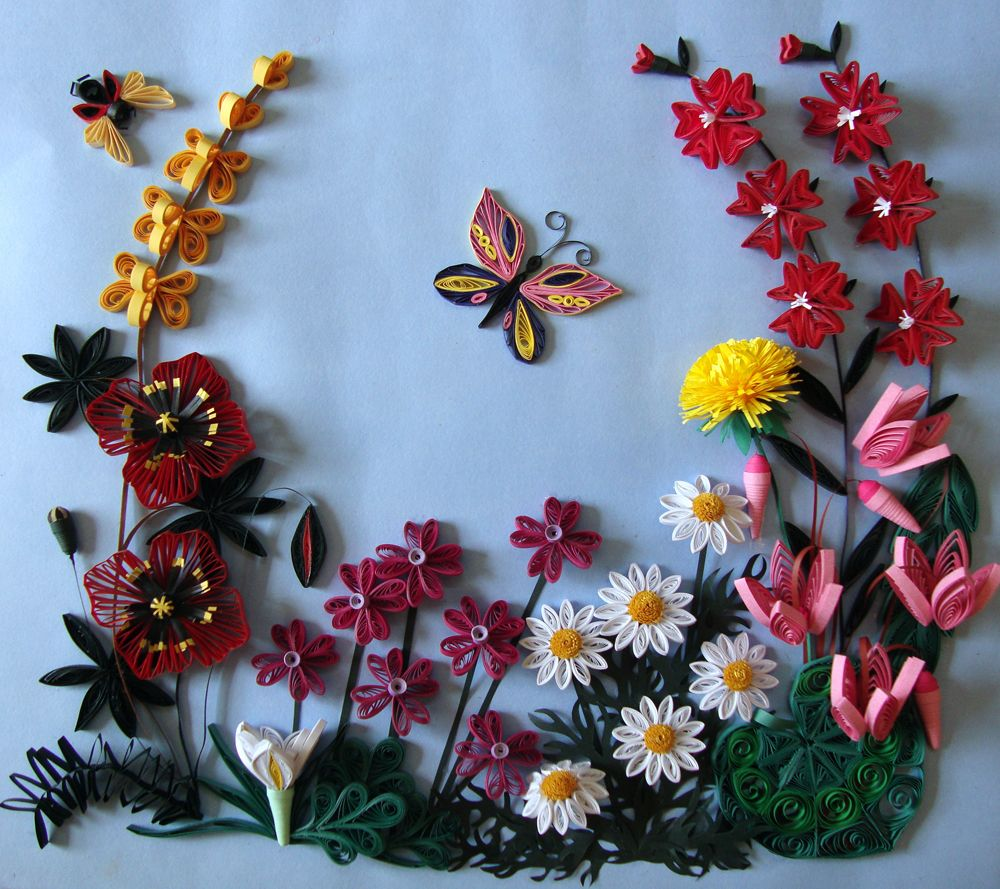 Flowers And Butterflies Quilling Paper Crafts Pinterest