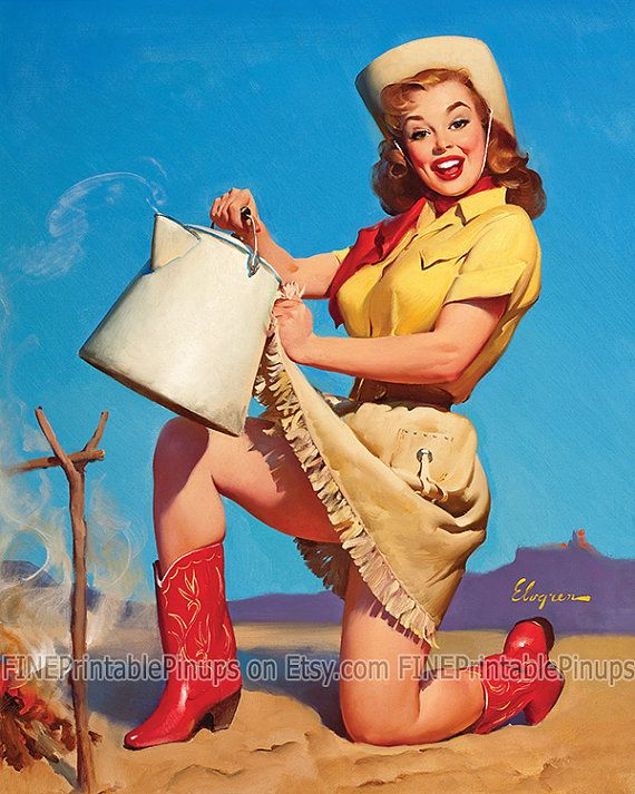Pinup Pin Up Art Vintage Classic Cowgirl Cowboy Boots Outdoor Desert Camp Crazy For You Pin Up Art Pin Up Vintage Cowgirl
