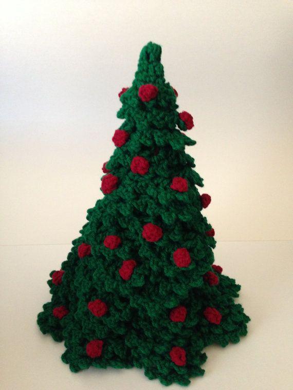 Green Crochet Christmas Tree on Etsy, $35.00