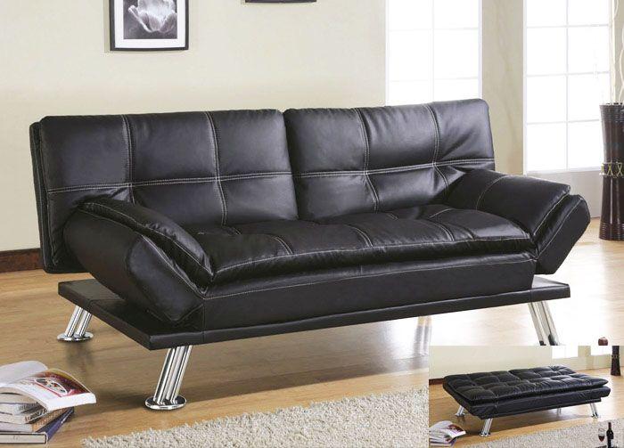 Charmant Leather Futon Sofa Bed