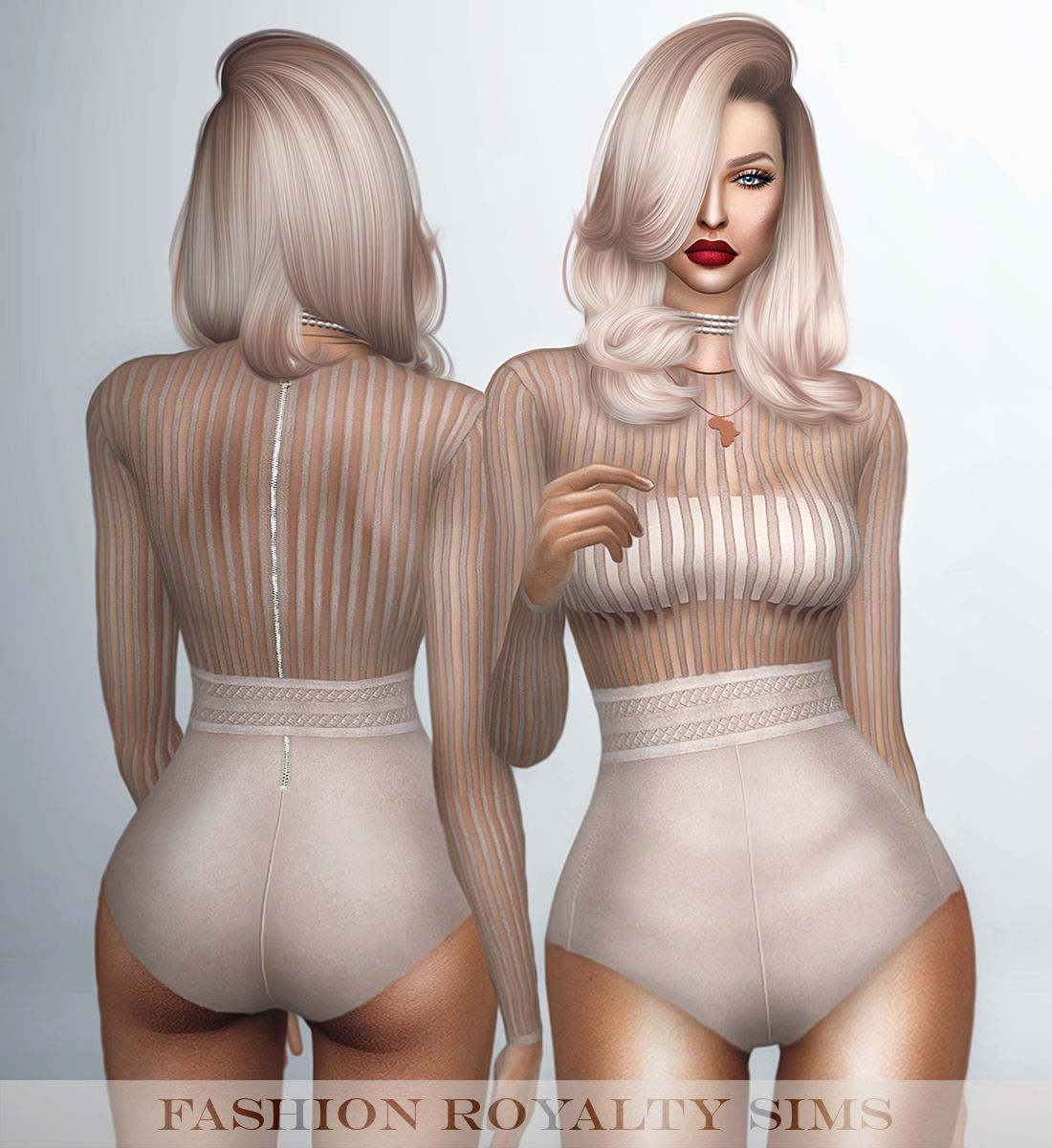 Barbie Nail Art Games Free Download: Long Sleeve Striped Bodysuit With Belt By