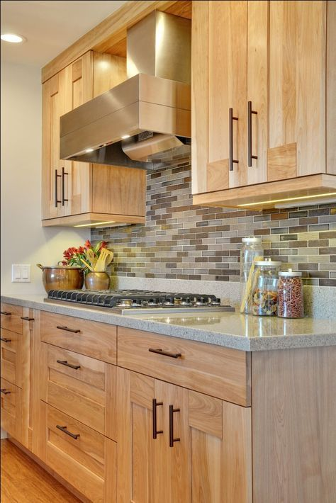 Kitchen Remodeling Ideas Hickory cabinets with built-up crown ...