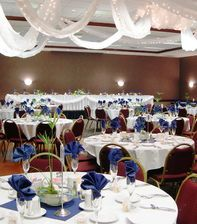 Holiday Inn West banquet room set up