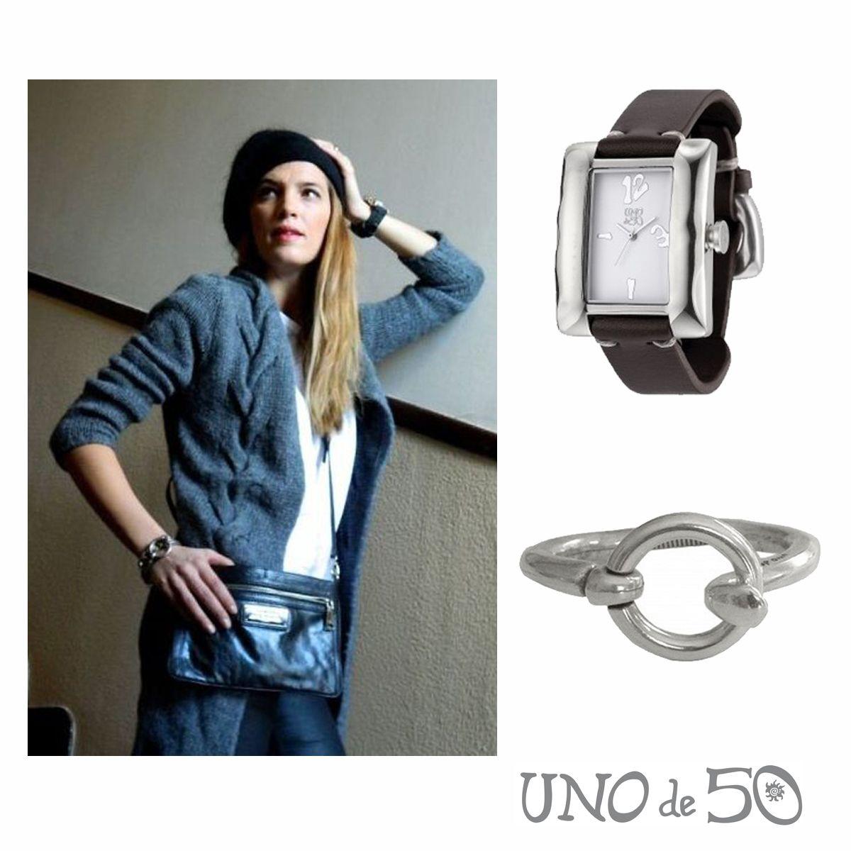 """La modelo Laura Sánchez escoge para su look la pulsera """"Brújula"""" y el reloj """"Al momento""""  Pulsera/ Bracelet """"Brújula"""": http://goo.gl/XA99uo Reloj/ Whach """"Al momento"""": http://goo.gl/Cn8eBc"""