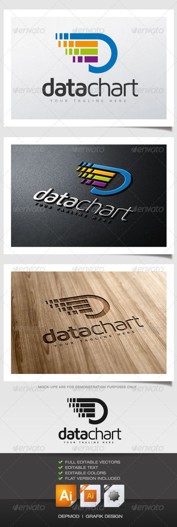 Data Chart Logo Data logo, Waves logo, Logo templates