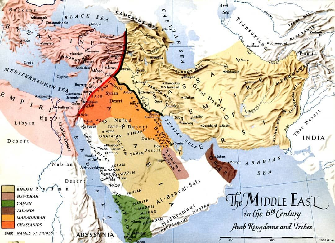 Middle East in 6th Century. Follow @the.historia for more ...