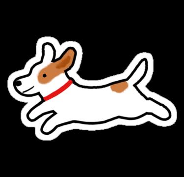 Cute Jack Russell Terrier Running Dog Sticker By Jenn Inashvili Jack Russell Terrier Jack Russell Cute Dog Drawing