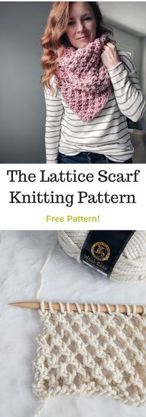 Photo of The Lattice Scarf Knitting Pattern • Ginger Knots