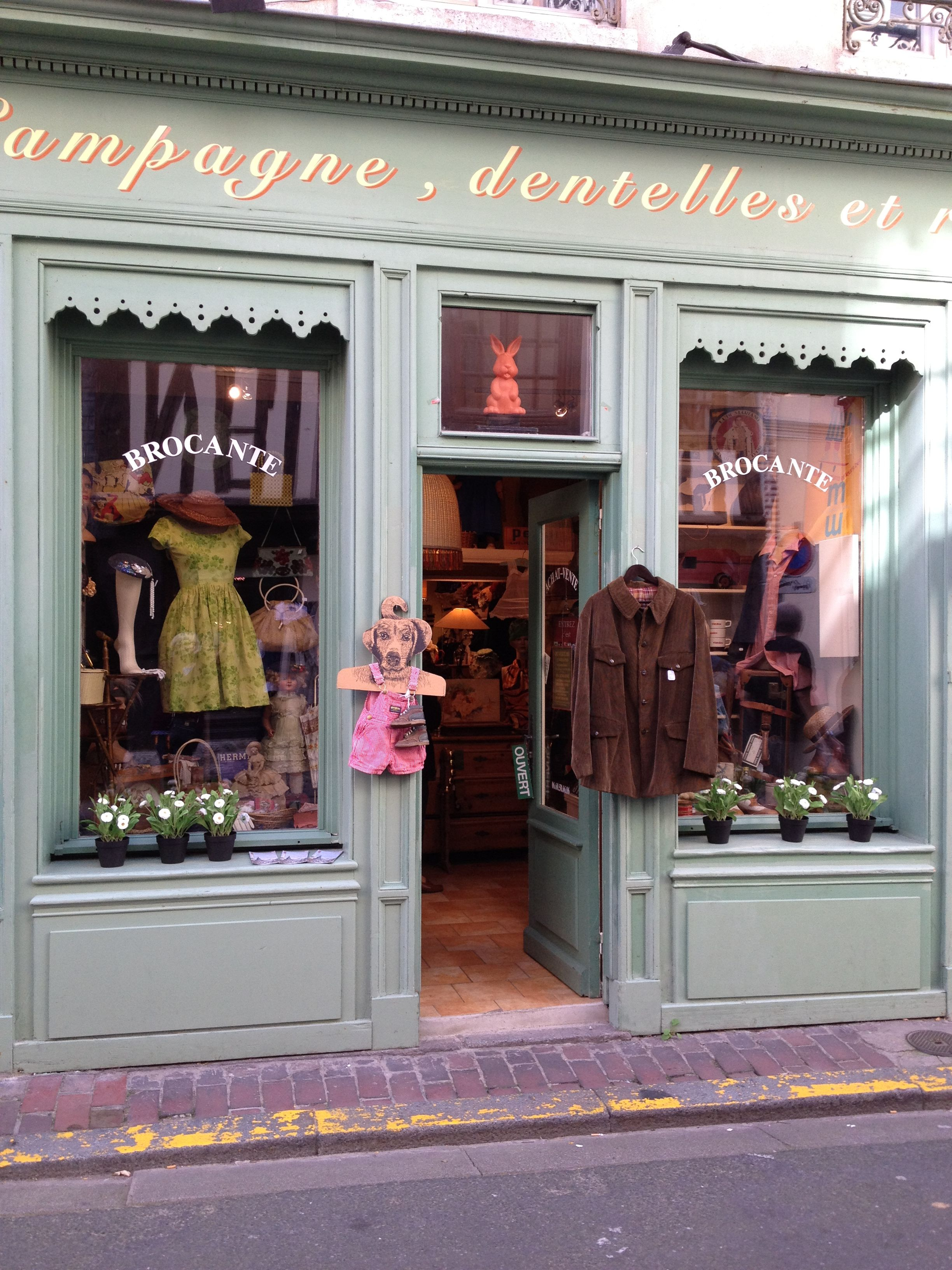 Brocante Vintage Clothing Shop Honfleur Absolutely Loaded With Goodies
