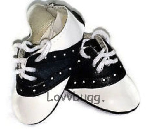 Black /& White Saddle Oxford Shoes 18 in Doll Clothes Fits American Girl