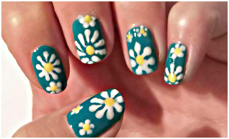 Flower Spring Nail Art Tutorial - Daisy Flower - Crix Tutorials ...