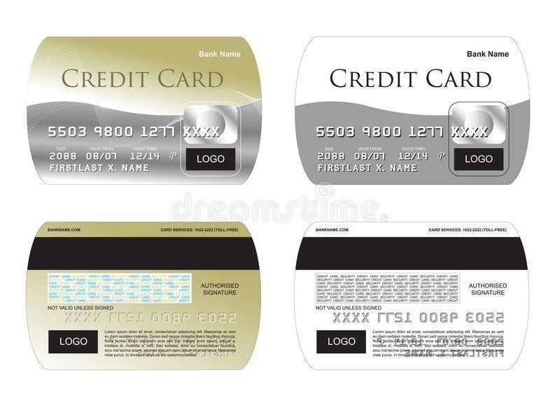 Credit Card Gold Creditcard Credit Card Illustration Kreditkarte