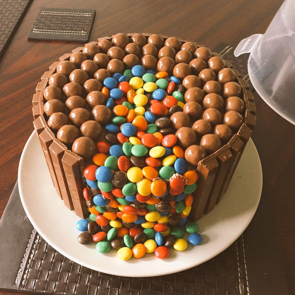 Chocolate Cake With M Amp M Waterfall Maltesers And Kitkats
