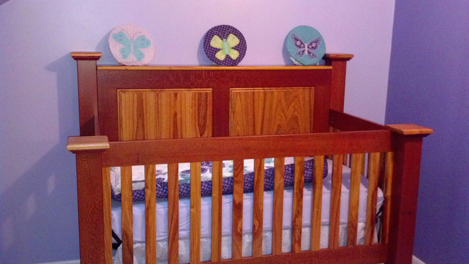 This crib was hand made by my son TOM For his baby girl!